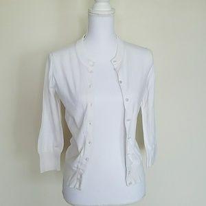 White J. Crew 3/4 sleeves cardigan